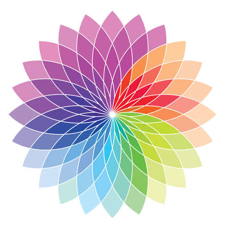 Flower shape color wheel