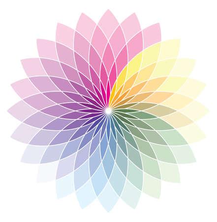 color swatch: Flower shape color wheel