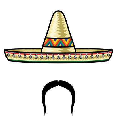 sombrero de charro: Sombrero y bigote