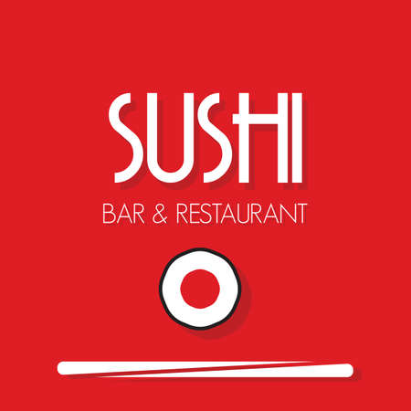 Sushi menu card template Vector