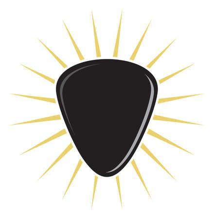 guitar pick: guitar pick