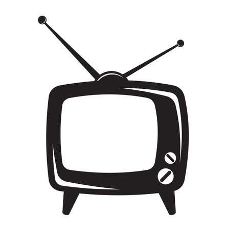 vintage television: Retro tv icon