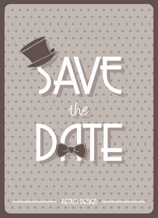 Save the Date retro poster Vector