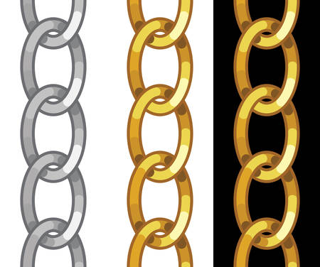 seamless golden chain Vector