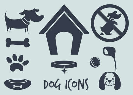 veterinary sign: dog icons Illustration