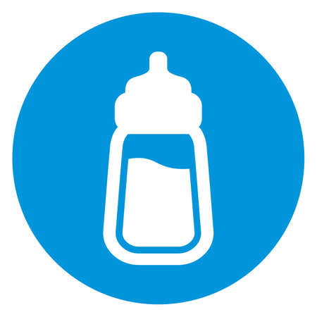 baby with bottle: baby milk bottle icon