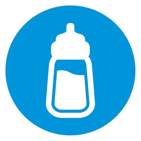 nipple: baby milk bottle icon