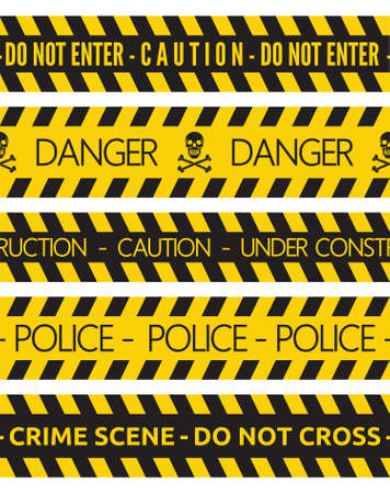 barrier tape: police security tapes Illustration