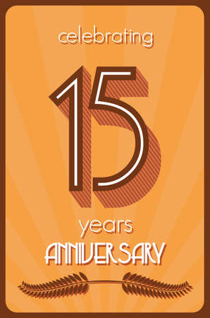 15 years anniversary Vector
