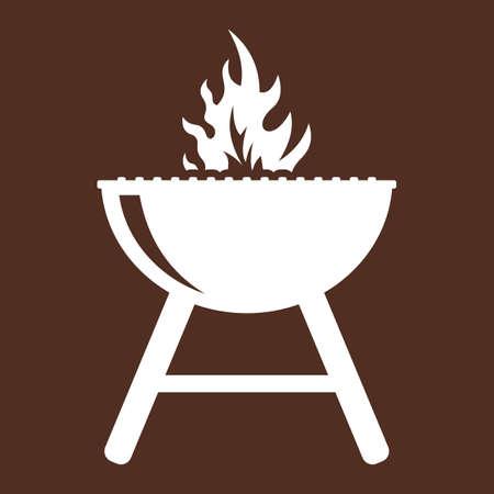 barbecue stove: barbecue grill Illustration