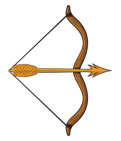 archer of bow: bow and arrow