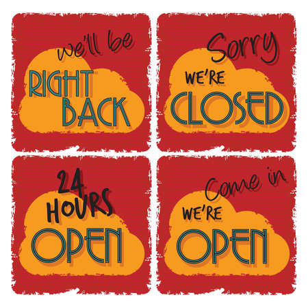 open and closed signs Stock Vector - 24355339