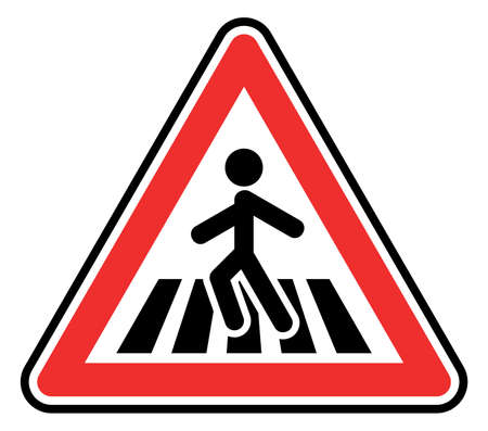 the crossing: pedestrian crossing sign