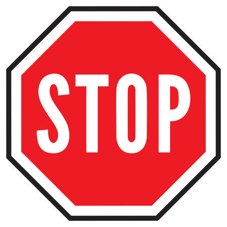 red sign: stop sign