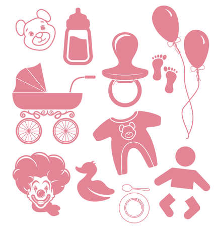 diaper pins: baby icons