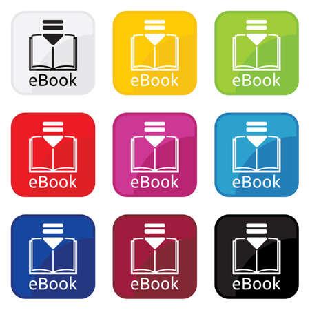 e book: e book icon Illustration