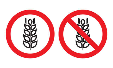 intolerancia: Gluten Resgistrate gratis Vectores