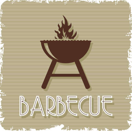 charcoal grill: barbecue grill Illustration