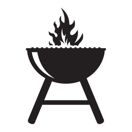 barbecue stove: barbecue grill Illustration