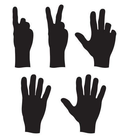human finger: hand counting