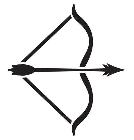 doelstelling: pijl en boog Stock Illustratie
