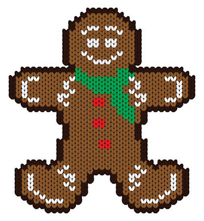 ginger bread man: ginger bread Illustration