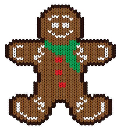 gingerbread man: ginger bread Illustration