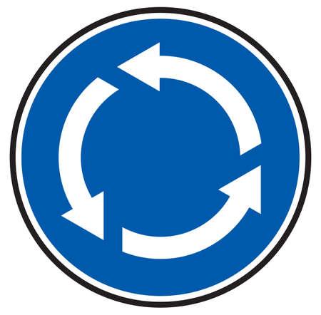 ronde verkeersbord Vector Illustratie