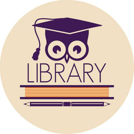 buho graduacion: icono de la biblioteca