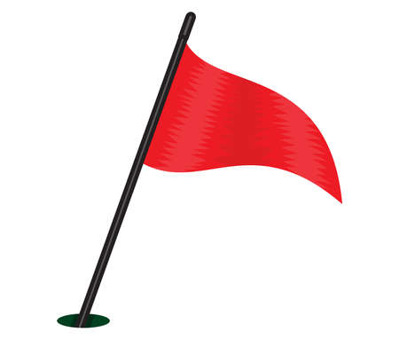 three cornered: red triangular flag Illustration