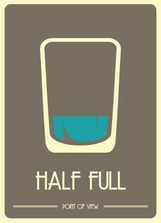 A glass half full  イラスト・ベクター素材