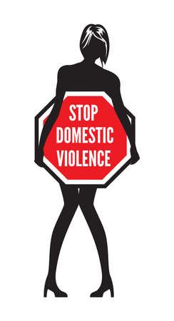 Alto a la violencia doméstica o el abuso de signo