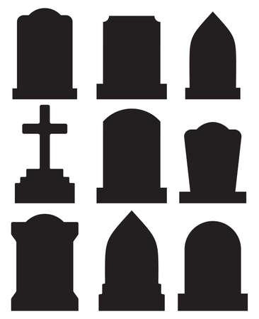 gravestone set Vector