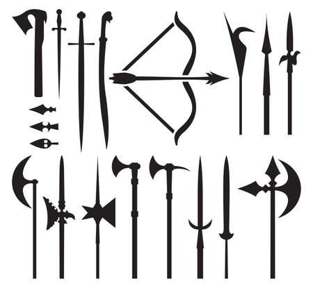 armbrust: mittelalterliche Waffe Symbolen