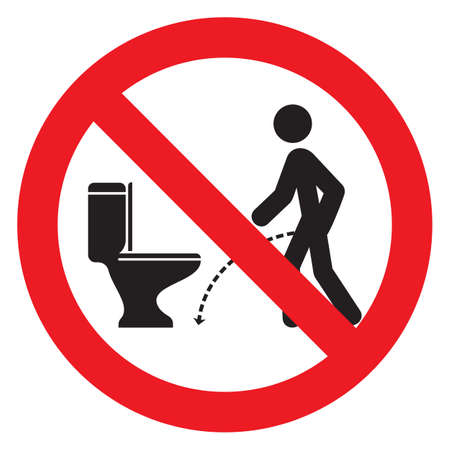 No pissing sign Illustration
