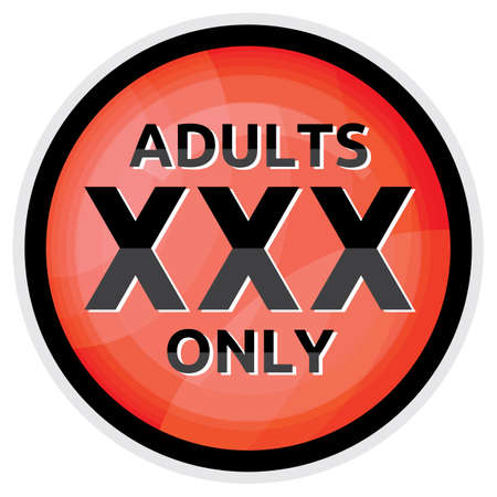 xxx icon - adults only Vector