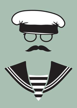 Navy captain Vector