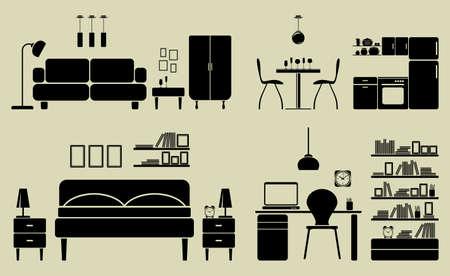 lighting background: Furniture Illustration