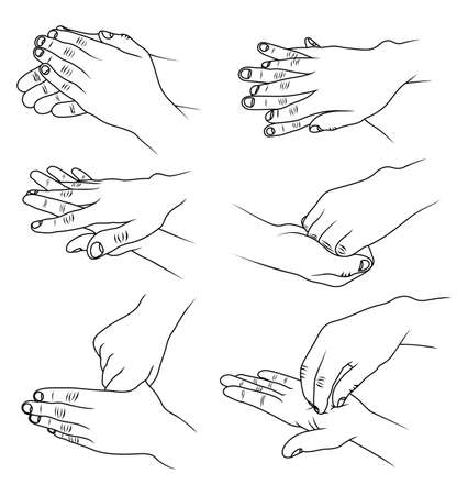 Hands washing Vector