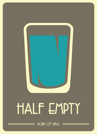 A glass half empty Vector