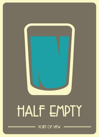 A glass half empty Vector