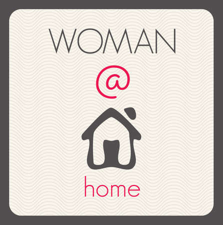 Woman at home Vector