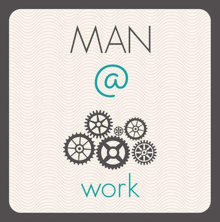 Man at work Vector