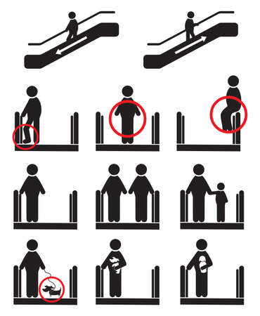 regulation: Escalator icons Illustration