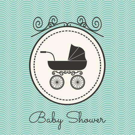 retro frame: Baby shower Illustration