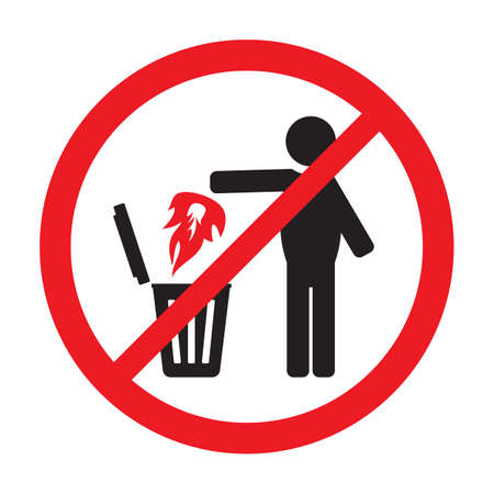 No fire sign Vector