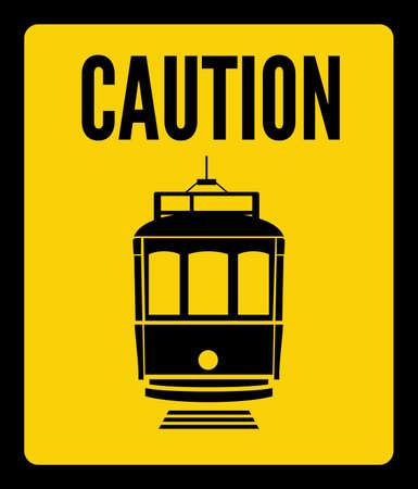 tramway: cautela tram Vettoriali