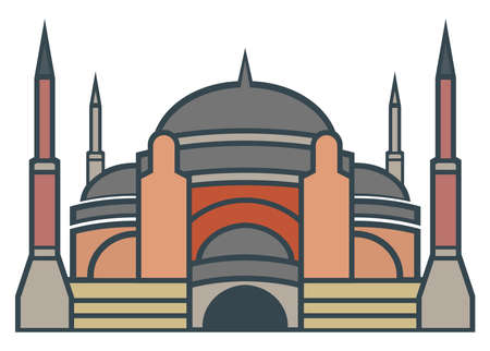 hagia sophia: Hagia Sophia, Istanbul - simple icon Illustration