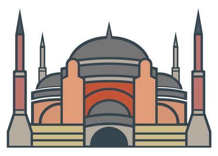 hagia: Hagia Sophia, Istanbul - simple icon Illustration
