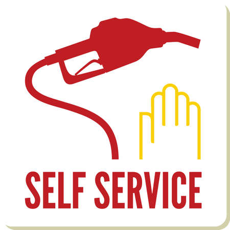 Self service gas station sign